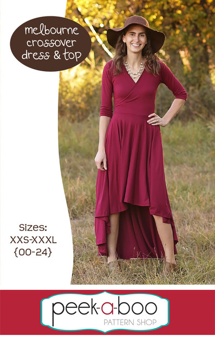 Melbourne Crossover Dress and Top sewing pattern