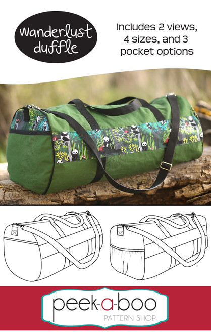 Wanderlust Duffle Bag Sewing Pattern