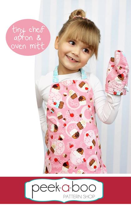 Tiny Chef Apron & Toy Oven Mitt