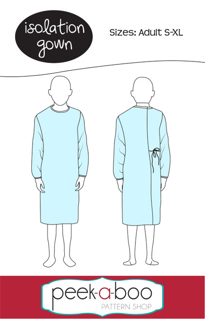 Isolation gown sewing pattern