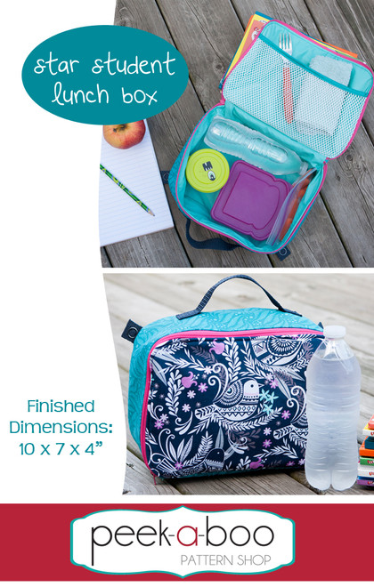 Star Student Lunch Box Sewing Pattern