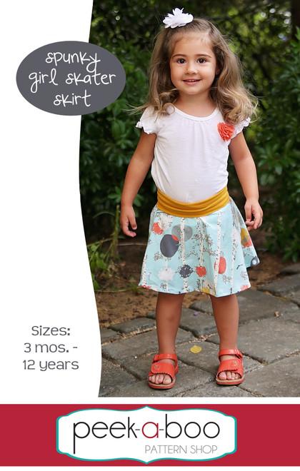 5aa8d1943 Spunky Girl Skater Skirt - Peek-a-Boo Pattern Shop