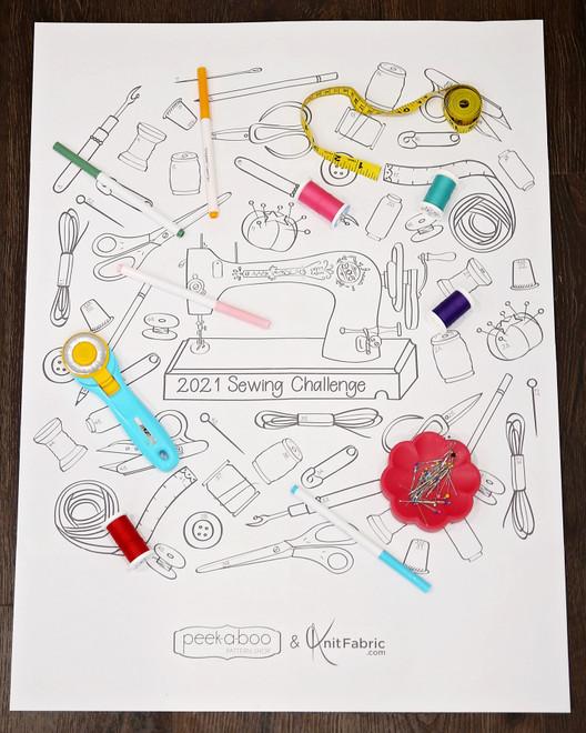 2021 sewing challenge printable