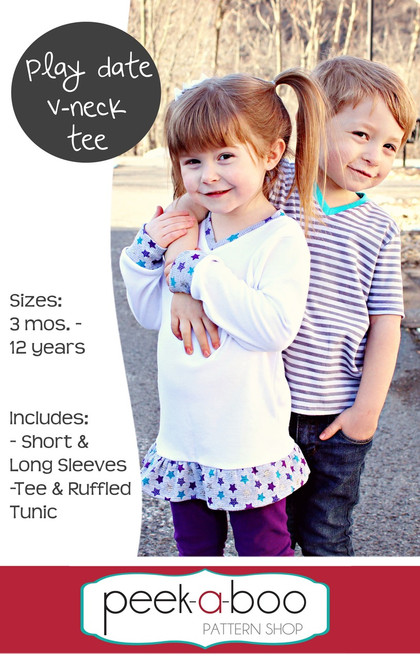 Play Date V-Neck Tee