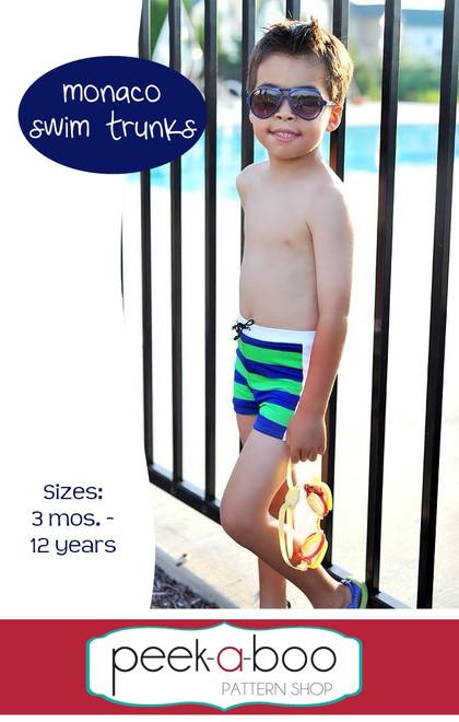Monaco Swim Trunks Pattern