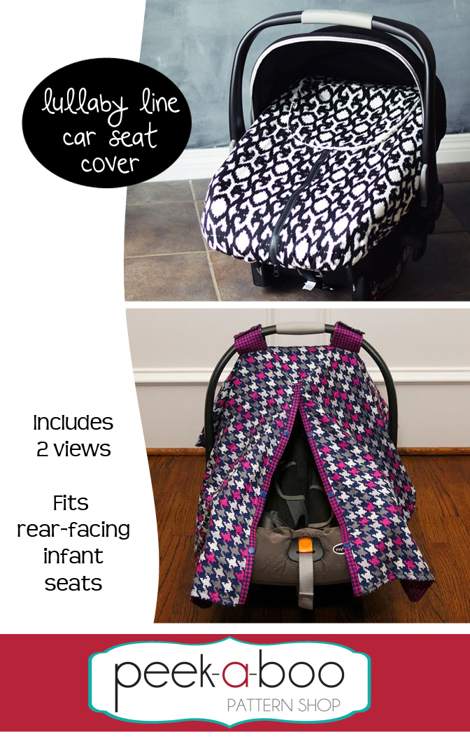 Lullaby Line Car Seat Cover