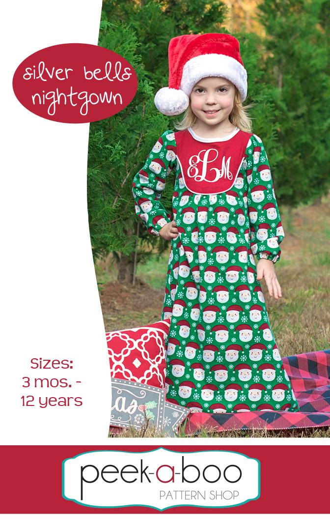 Silver Bells Nightgown - Peek-a-Boo Pattern Shop 97f471ca0
