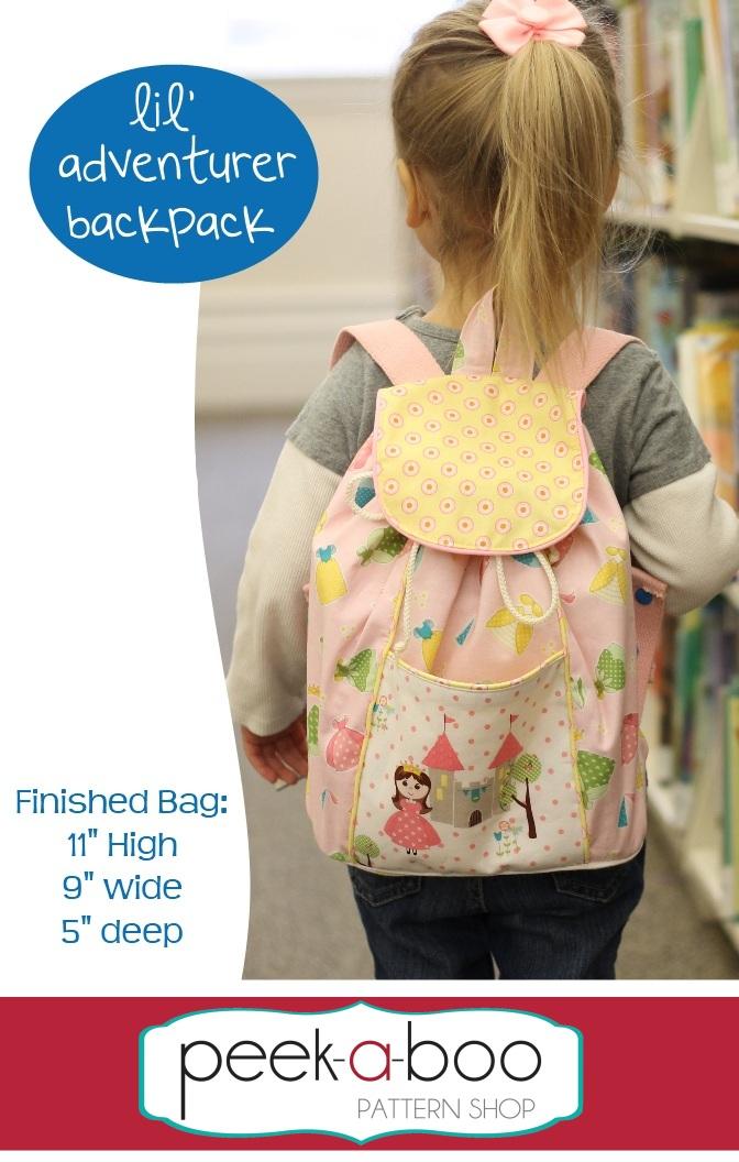 7c9a2b4d60fe Lil  Adventurer Backpack PDF Sewing Pattern