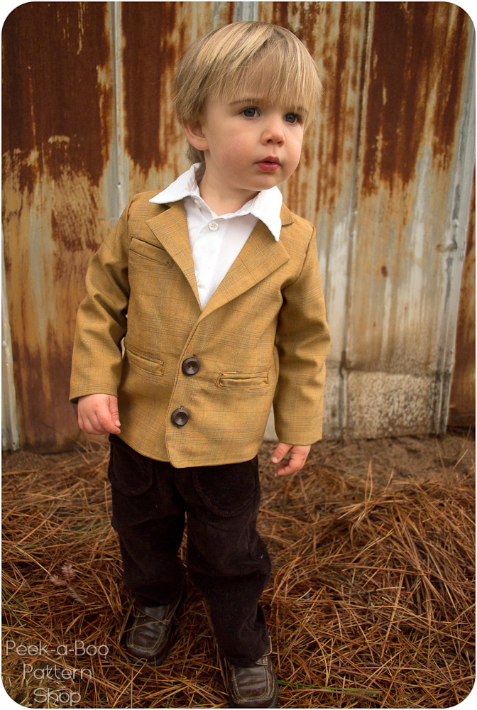c055dc895 Little Gentleman Suit Jacket PDF Sewing Pattern