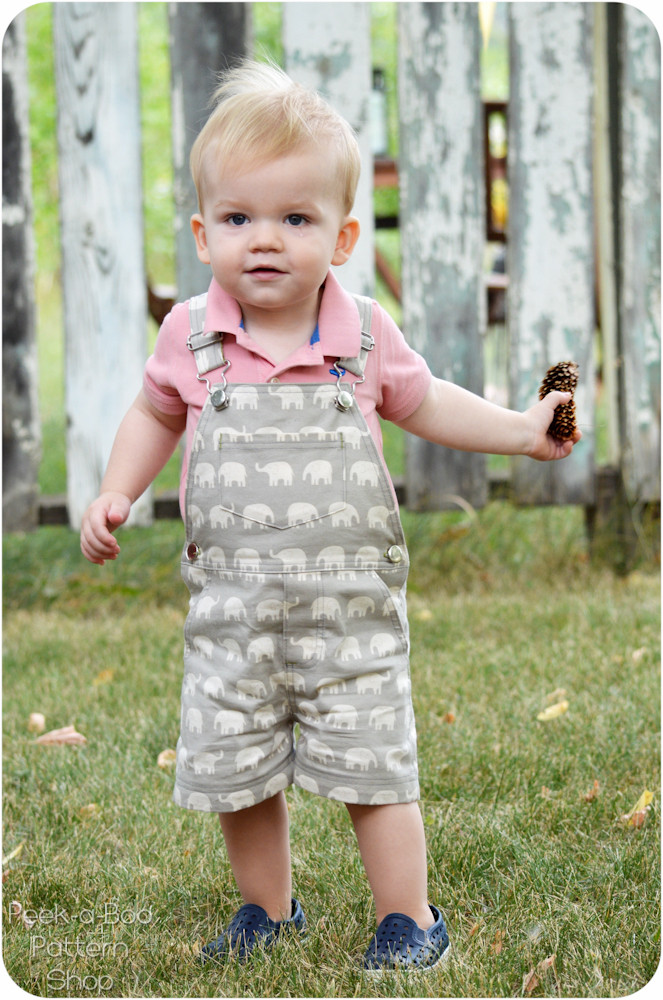 Okey Dokey Overalls Sewing Pattern Peek A Boo Pattern Shop