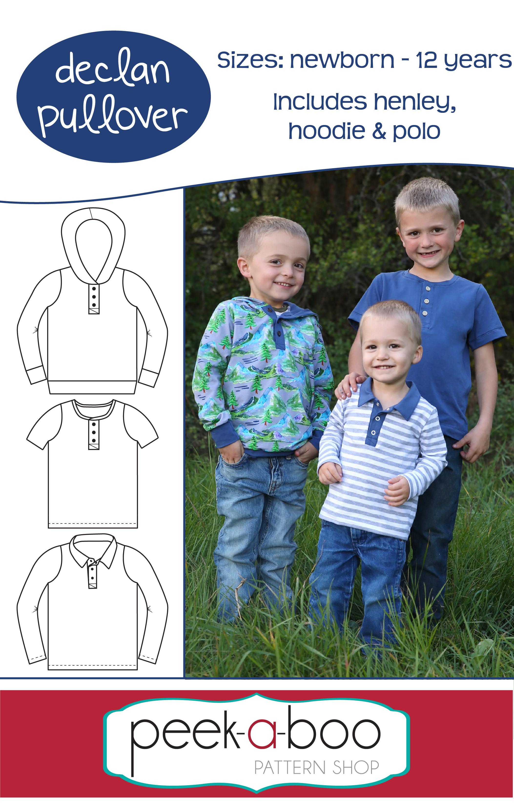 Peek-a-Boo Declan Pullover Sewing Pattern