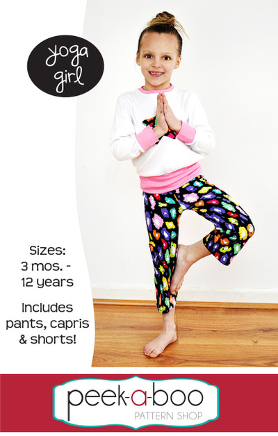 Yoga Girl Pants Capris And Shorts Pdf Sewing Pattern