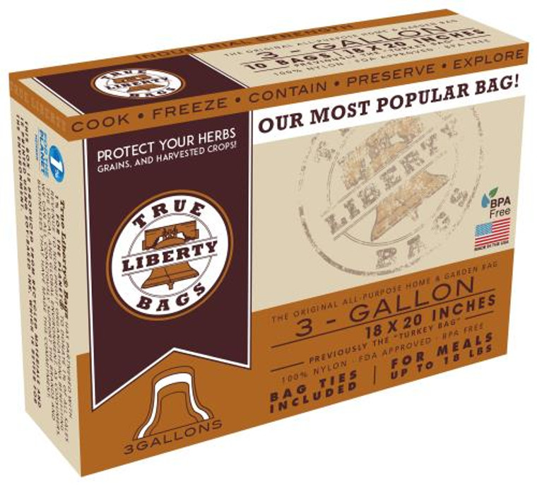 True Liberty 3 Gallon Bags 18 in x 20 in (10/pack)