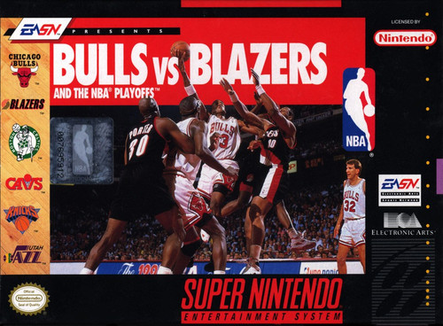 Bulls vs Blazers NBA Play (Super Nintendo)