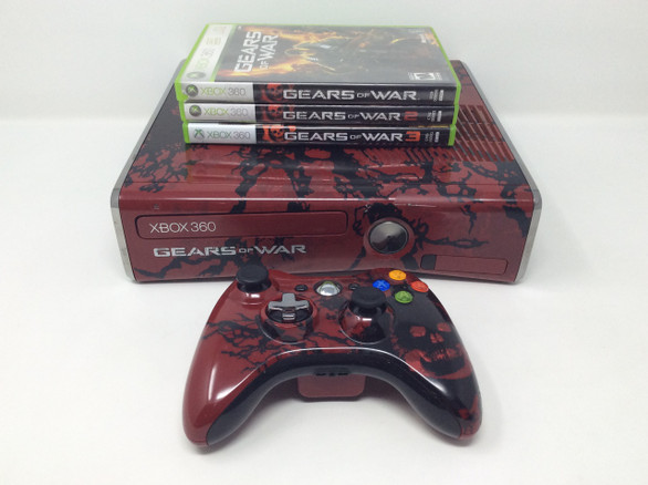 320gb Gears of War 3 Edition Xbox 360 Console + Gears of War 1, 2, and 3