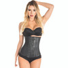 Latex Waist Cincher Black  & Nude (3 hooks)