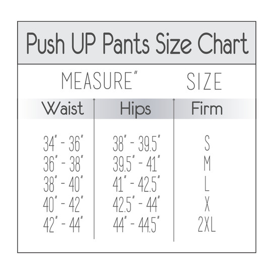 Women's Butt Lifting Colombian Leggings Size Chart