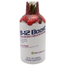 B-12 Boost, Cherry Charge, 16 fl oz (1 pt) 518.40 ml