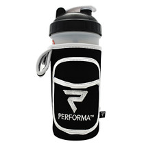 Fit Go, White On Black, 1 Fit Go Coozie