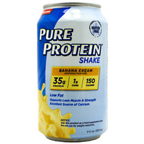 Pure Protein Shake, Banana Cream, 12 (11 fl. oz.) Cans