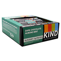 Kind Nuts & Spices, Dark Chocolate Almond Mint, 12 - 1.4 oz Bars