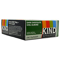 Kind Nuts & Spices, Dark Chocolate Chili Almond, 12 Bars