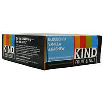 Kind Fruit & Nut, Blueberry Vanilla & Cashew, 12 Bars
