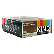 Kind Nuts & Spices, Madagascar Vanilla Almond, 12 bars per box