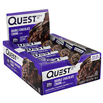 Quest Protein Bar, Double Chocolate Chunk, 12 (2.12 oz) Bars