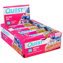 Quest Protein Bar, Birthday Cake, 12 (2.12oz) Bars