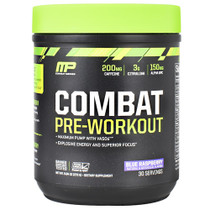 Combat Pre-workout, Blue Raspberry, 30 Servings (9.84 oz.)