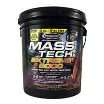 Mass-tech Extreme 2000, Triple Chocolate Brownie, 22.00 lbs (9.98kg)
