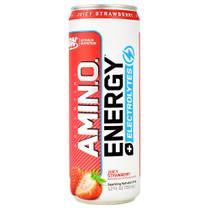 Amino Energy + Electrolytes Rtd, Juicy Strawberry, 12 (12 fl oz) Cans