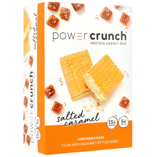 Power Crunch, Salted Caramel, 5 (1.4 oz) Bars