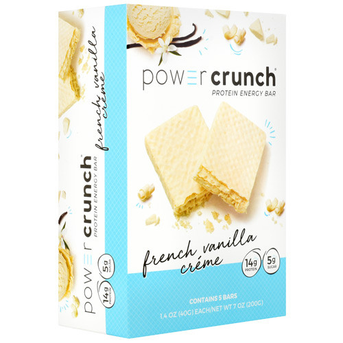 Power Crunch, French Vanilla Creme, 5 (1.4 oz) Bars