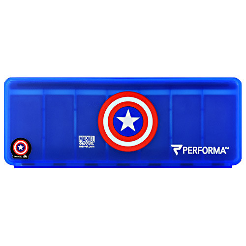 7 Day Vitamin Storage, Captain America, 1 (7 Day) Container