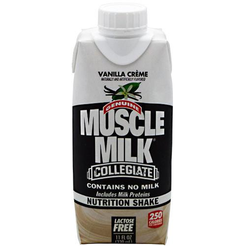 Muscle Milk Collegiate, Vanilla Creme, 12- 11 fl oz shake