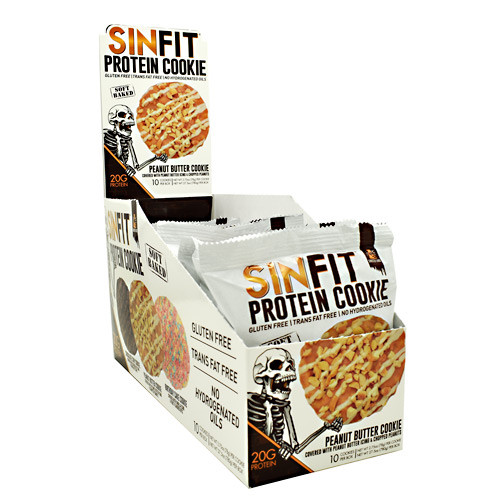 Sinfit Cookie, Peanut Butter Cookie, 10 - 2.75oz (78g) Per cookie