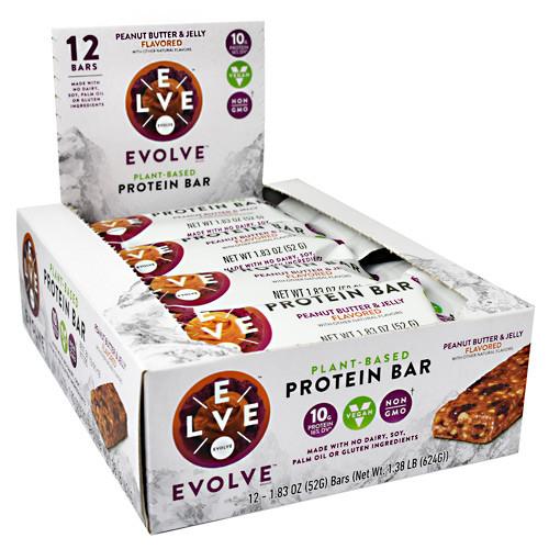 Evolve Bar, Peanut Butter And Jelly, 12 (1.83oz) Bars
