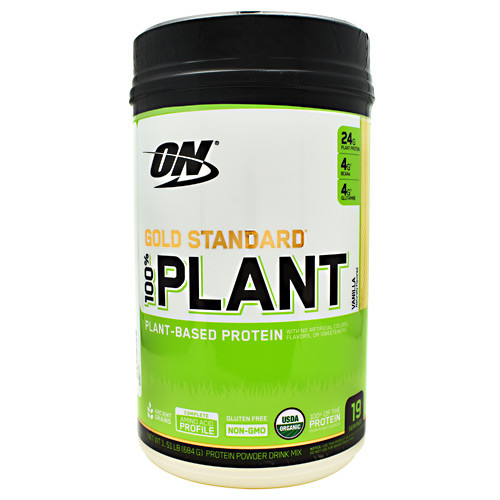 100% Plant Protein, Vanilla, 19 Servings (1.51 LB) (684G)