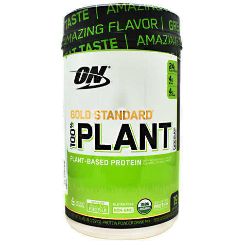 100% Plant Protein, Chocolate, 19 Servings (1.59 LB) (722G)