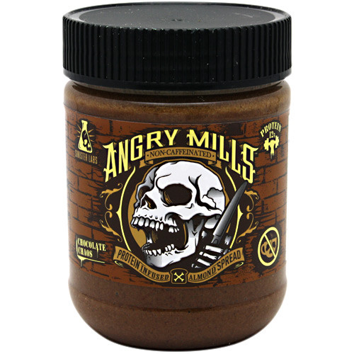 Angry Mills Almond Spread, Chocolate Chaos, 12 oz (340 g) - EU9480003