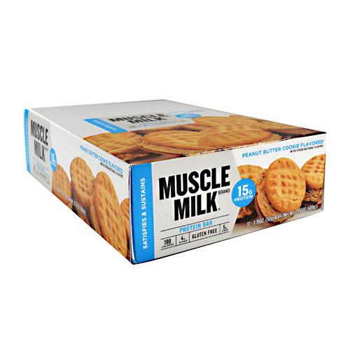 Muscle Milk Bar, Peanut Butter Cookie, 12 - 1.76 oz. Bars