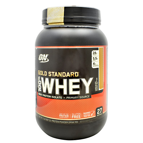100% Whey, Chocolate Peanut Butter, 2 LB (907 G)