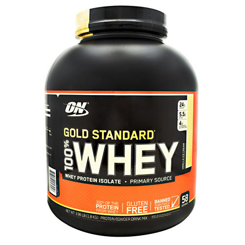 100% Whey, Vanilla Ice Cream, 58 Servings (3.96 lb)
