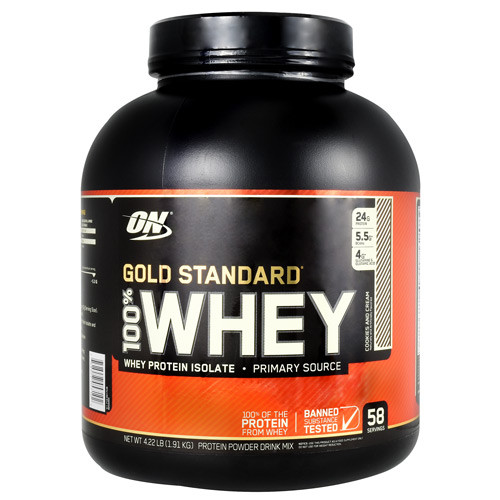 100% Whey, Cookies N' Cream, 58 Servings (4.22 lb)