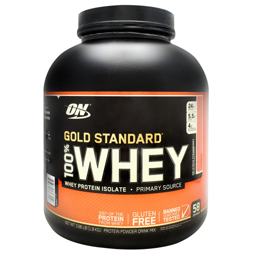 100% Whey, Delicious Strawberry, 58 Servings (3.96 lb)