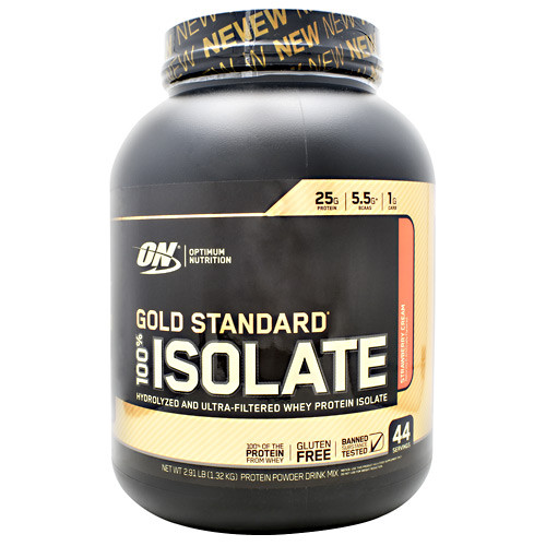 100% Isolate, Strawberry Cream, 44 Servings (2.91 lb)