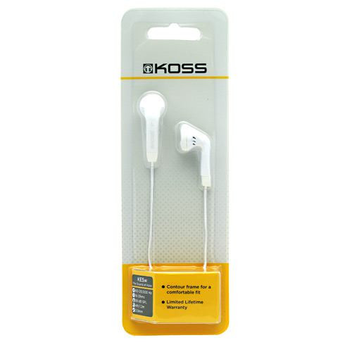 Earphones Ke5w, White, 1 Pair of Earphones