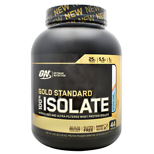 100% Isolate, Birthday Cake, 44 Servings (2.91 lb)